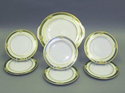 Leander Сервиз для торта Сабина Золотые фрукты, 7 пр. leander блюдо для гарнира овальное сабина изящная платина 22 см