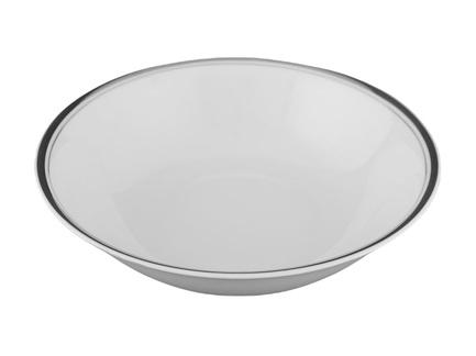 Leander Салатник Сабина Изящная платина, 26 см 02111418-0011 Leander салатник квадратный 17см форма сабина 0676 фарфор leander 655571