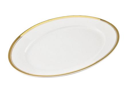 Leander Блюдо овальное Сабина Изящное золото, 32 см