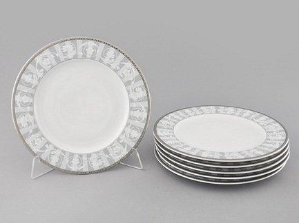 Leander Набор тарелок мелких Сабина Цветочный узор, 25 см, 6 шт. 02160125-1013 Leander набор тарелок мелких 6 шт 25см форма сабина 0676 фарфор leander 655474