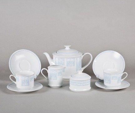 Leander Сервиз чайный Сабина Голубой узор, 15 пр. 02160725-242B Leander сервиз чайный 15предм форма сабина 1013 фарфор leander 654687