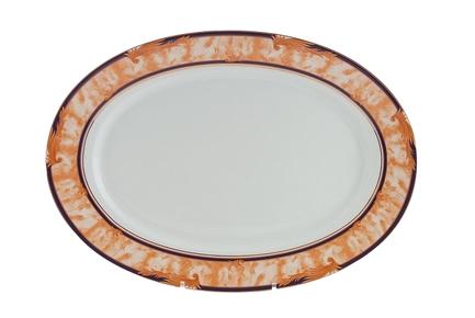 Leander Блюдо овальное Сабина Золотые листья, 39 см 02111525-0504 Leander leander блюдо для гарнира овальное сабина изящная платина 22 см