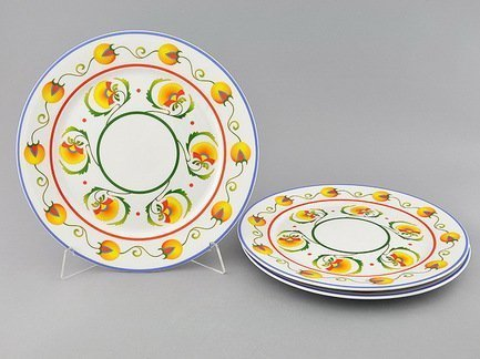 Leander Набор тарелок мелких Сабина Фруктовые сады, 30 см, 3 шт. 02131313-2410 Leander набор тарелок мелких 6 шт 25см форма сабина 0676 фарфор leander 655474
