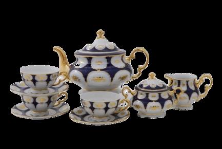 Фото - Сервиз чайный Соната Темно-синий орнамент с золотом, 15 пр. 07160725-0443 Leander сервиз чайный соната темно синий орнамент с розами 15 пр 07160725 0440 leander