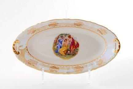 Leander Блюдо овальное Соната Пастораль, 23 см 07116125-0676 Leander leander тарелка глубокая соната темно синий орнамент с розами 23 см