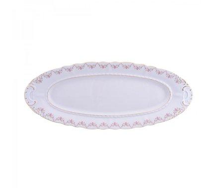 Блюдо овальное Соната Розовая нить, 55.5 см 07111518-0158 Leander блюдо овальное соната тонкое золото 55 5 см 07111518 1139 leander