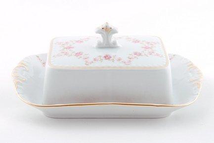 Leander Масленка граненная Соната Розовая нить (0.25 кг)