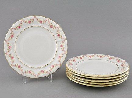 Leander Набор тарелок десертных Соната Розовая нить, 17 см, 6 шт. 07160317-0158 Leander leander набор тарелок десертных соната розовая нить 19 см 6 шт 07160319 0158 leander