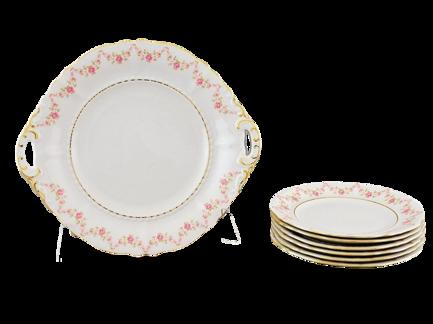 Фото - Сервиз для торта Соната Розовая нить, 7 пр. 07161019-0158 Leander сервиз для торта соната весенние цветы 7 пр 07161019 0013 leander