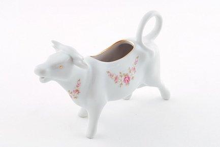 Сливочник-корова Соната Розовая нить (0.07 л), розовый фарфор от Superposuda