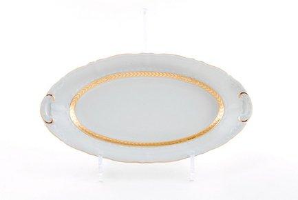 Leander Блюдо овальное Соната Изящное золото, 23 см 07116125-1239 Leander leander тарелка глубокая соната темно синий орнамент с розами 23 см
