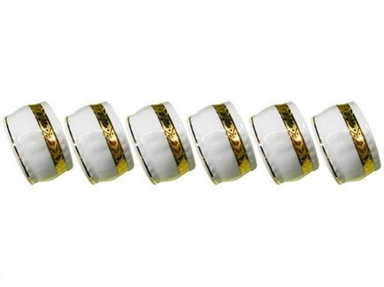 Leander Набор колец для салфеток Соната Изящное золото, 6 пр. салфетки la pastel набор салфеток 6 пр плетение