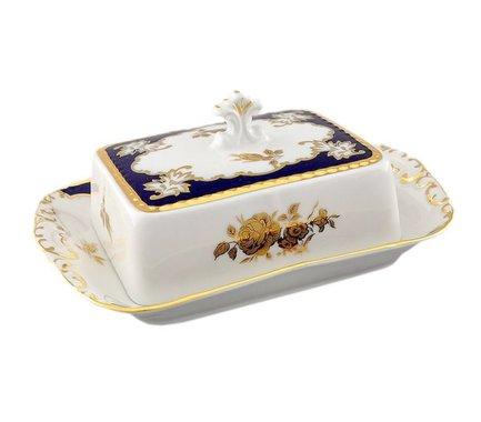 Leander Масленка граненная Соната Золотой узор (0.25 кг) 07122315-1457 Leander leander масленка граненная мэри энн незабудки 0 25 кг 03122316 0887 leander