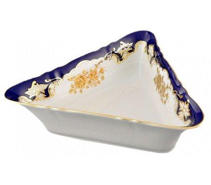 Leander Салатник треугольный Соната Золотой узор, 21х21х21 см 07111433-1457 Leander салатник треугольный кунстверк фарфор 220мл h 4 l 16 5 b 16 5см белый