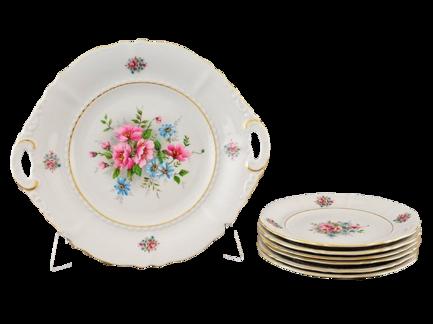 Фото - Сервиз для торта Соната Весенние цветы, 7 пр. 07161019-0013 Leander сервиз для торта соната весенние цветы 7 пр 07161019 0013 leander