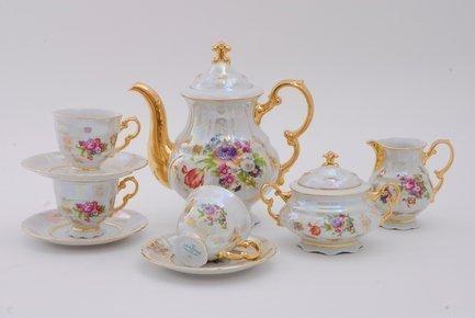 Leander Сервиз кофейный Соната Летний луг, 15 пр. чайный сервиз 23 предмета на 6 персон bavaria кёльн b xw213y 23
