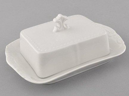 Фото - Leander Масленка граненная Соната Белоснежная классика (0.25 кг) 07122315-0000 Leander коробка рыжий кот 33х20х13см 8 5л д хранения обуви пластик с крышкой