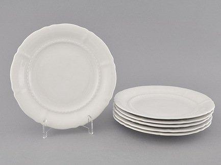 Leander Набор тарелок десертных Соната Белоснежная классика, 19 см, 6 шт. 07160319-0000 Leander