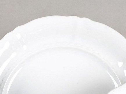 Leander Тарелка для торта Соната Белоснежная классика на ножке, 26 см 07116034-0000 Leander leander тарелка глубокая соната темно синий орнамент с розами 23 см