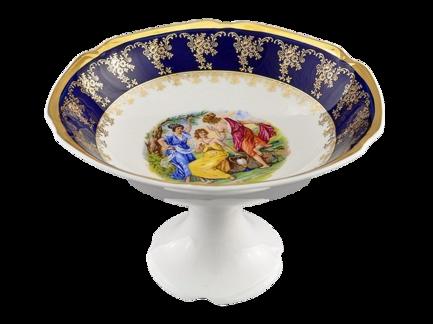Фото - Ваза для фруктов Мэри-Энн Темно-синяя окантовка, 23 см 03116154-0179 Leander ваза для фруктов мэри энн темно синяя окантовка с цветами 23 см 03116154 0086 leander