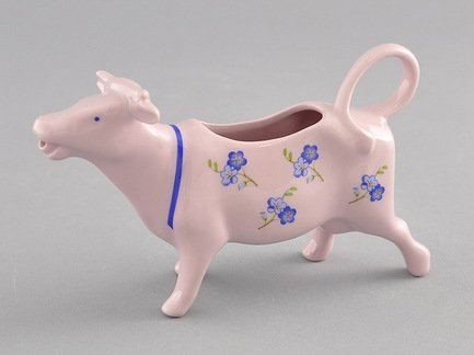 Leander Сливочник-корова Мэри-Энн Незабудки (0.07 л), розовый фарфор 21210813-0887 Leander leander масленка граненная мэри энн незабудки 0 25 кг 03122316 0887 leander