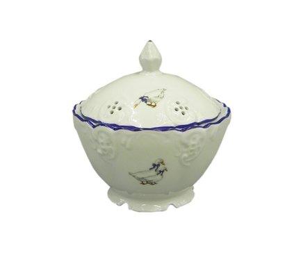 Leander Шкатулка круглая Гуси, 12.5 см, с ажурной крышкой 38125315-0807 Leander