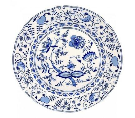 Блюдо круглое Мэри-Энн Гжель, мелкое, 30 см 03111313-0055 Leander