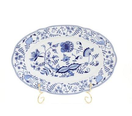 Leander Блюдо овальное Мэри-Энн Гжель, 32 см