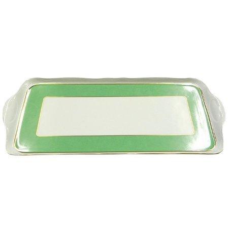 Leander Поднос Мэри-Энн Зелень и золото, четырехгранный, 36 см 03111643-1381 Leander поднос gipfel 51 36 см