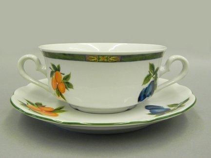 Leander Набор чашек для супа Мэри-Энн Фруктовые сады (0.35 л), с блюдцами, 6 шт.