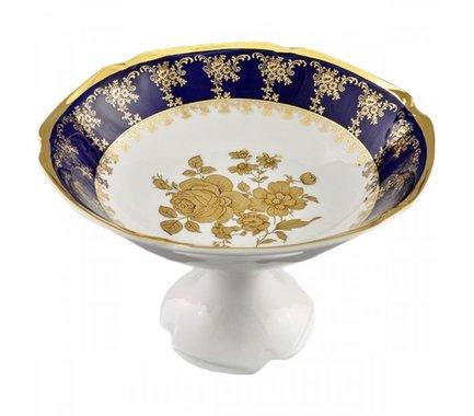 Leander Ваза для фруктов Мэри-Энн Темно-синяя окантовка с золотом, 23 см 03116154-0431 Leander leander ваза для фруктов мэри энн темно синяя окантовка с цветами 23 см 03116154 0086 leander
