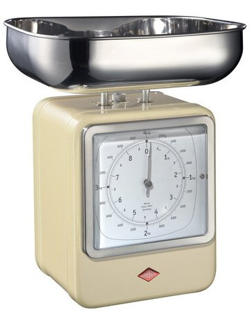 Wesco Кухонные весы-часы Retro Style, слоновая кость 322204-23 Wesco