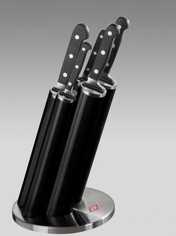 Wesco Набор ножей Pipe в подставке, черный, 5 пр. (322691-62)