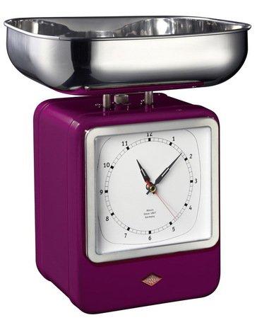 Wesco Кухонные весы-часы Retro Style, баклажан 322204-36 Wesco