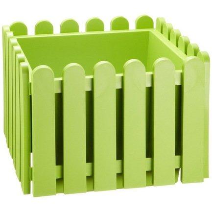 EMSA Кашпо Landhaus квадрат, 38 см, зеленое
