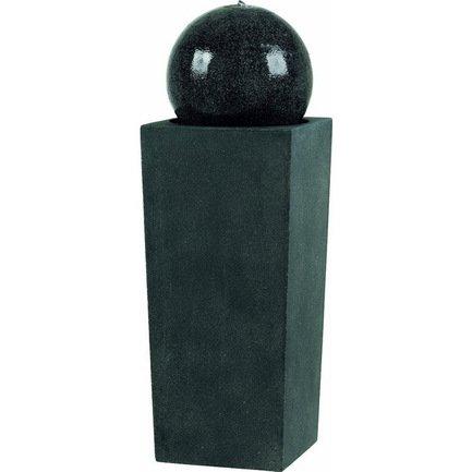 EMSA Фонтан Preto, 35х35х106 см, черный гранит 8512114106