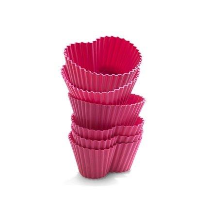 Silikomart Набор силиконовых форм для маффинов Сердце 7.5х6.5см, 6шт, розовые CUP03 Silikomart набор для яичницы silikomart eggset 2a