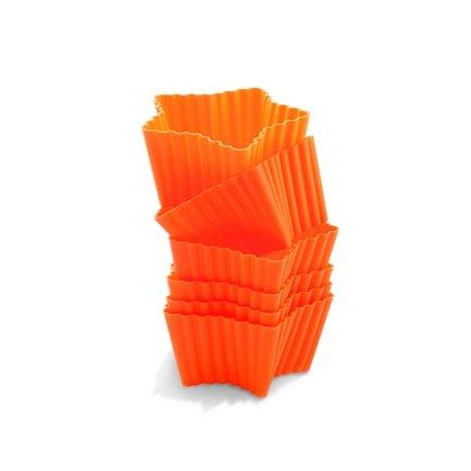 """Silikomart Набор форм для маффинов """"Звезда"""", 7х6.6 см, 6 шт., оранжевые CUP04"""