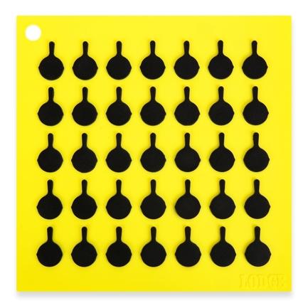 Lodge Подставка квадратная с логотипом сковороды, 19 см, желтая