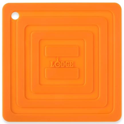 Lodge Подставка квадратная, 15 см, оранжевая