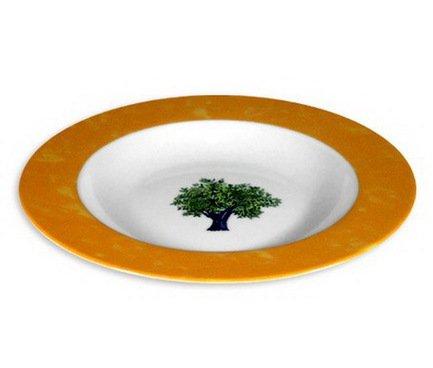 Тарелка суповая Ouliveiro Porcelaine деревья, 22 см 121519 Guy Degrenne