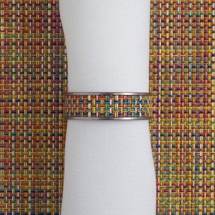 CHILEWICH Кольцо для салфеток Confetti, 1.3x4.1 см, жаккардовое плетение 0802-MNBK-CONF CHILEWICH