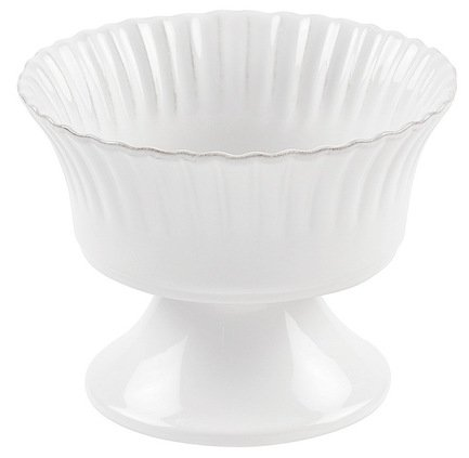 Costa Nova Чаша на ножке Village, 16x12.5 см, белая, покрытие глазурь costa nova тарелка astoria 23 см белая покрытие глазурь