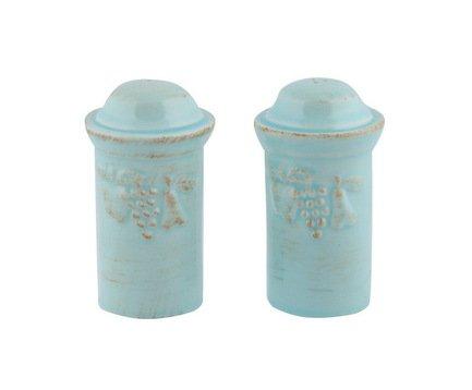 Costa Nova Набор из солонки и перечницы Mediterranea, голубой, высота 10 см MDS01-00201D Costa Nova чашка costa nova friso комплект из 4 шт fis 181 01410 o