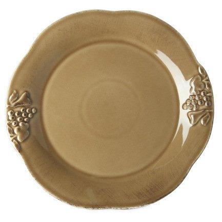 Costa Nova Тарелка Mediterranea, 34 см, коричневая, покрытие глазурь costa nova тарелка astoria 23 см белая покрытие глазурь