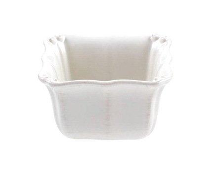 Costa Nova Чаша квадратная Barroco, 10x10 см, белая, покрытие глазурь RN101-00201Z Costa Nova