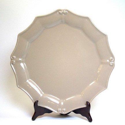 Costa Nova Тарелка Barroco, 36 см, кремовый, покрытие глазурь costa nova тарелка astoria 23 см белая покрытие глазурь