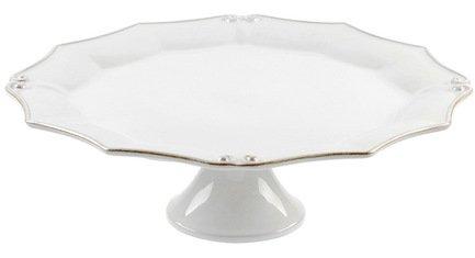 Costa Nova Блюдо на ножке Barroco, 36x12 см, белый, покрытие глазурь costa nova тарелка astoria 23 см белая покрытие глазурь
