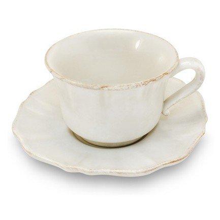 Costa Nova Чашка с блюдцем Impressions (0.4 л), белая SSS01-00804A