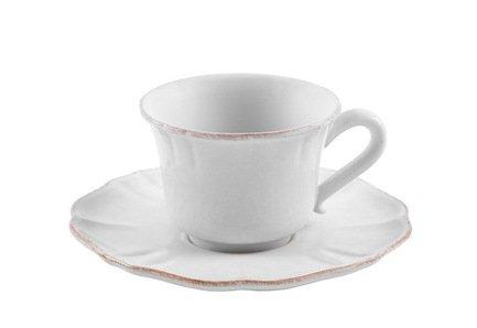 Costa Nova Чашка с блюдцем Impressions (0.4 л), белая SSS02-00804A Costa Nova чашка costa nova friso комплект из 4 шт fis 181 01410 o
